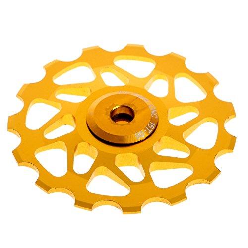 lbze自転車Rear Derailleur Pulleyジョッキーホイールシール軸受Mountain MTB 15tホイール B074Z33Q95 ゴールド ゴールド