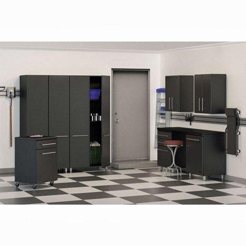 Ulti-MATE Garage (GA-80) 8-Piece Garage Storage Kit, Graphite Grey and Black