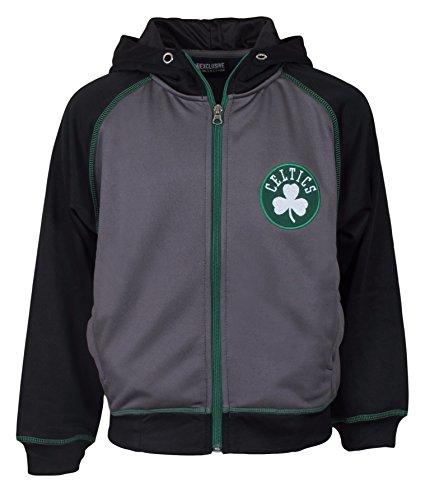 Majestic NBA Youth Polyester Primary Team Logo Fleece Track Jacket (Celtics, Large)