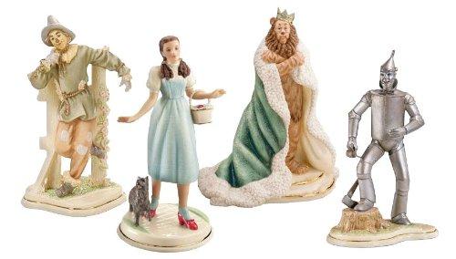 Lenox Wizard of Oz Tin Man Dorothy Toto Scarecrow Lion Figurines Set of (Cowardly Lion Figurine)