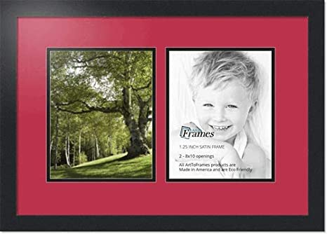 Amazoncom Arttoframes Collage Photo Frame Double Mat With 2