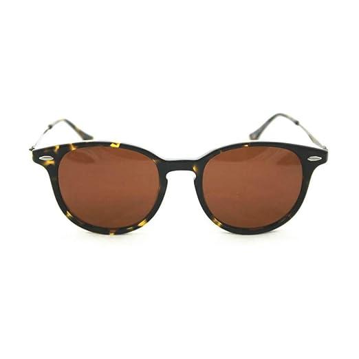 cf503d3969415 Amazon.com  Petite Size Round Retro Lightweight Sunglasses by Eshne - Dark  Brown  Clothing