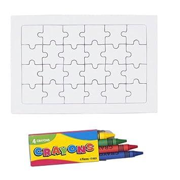 DISOK Set de 50 Puzzles con 24 Piezas y 4 Ceras Incluidas ...