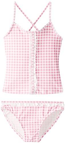 Jessica Simpson Little Girls' Gingham Tankini, Pink, 16 - Gingham Girls Swimsuit