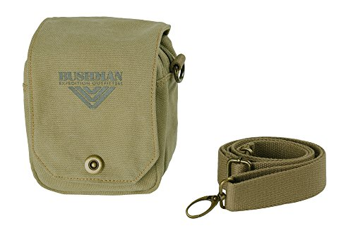 BUSHMAN Outdoor Freizeit Tasche GIA Safari-Tasche klein mit Gürtelschlaufe aus 100% Baumwolle in der Farbe Olive