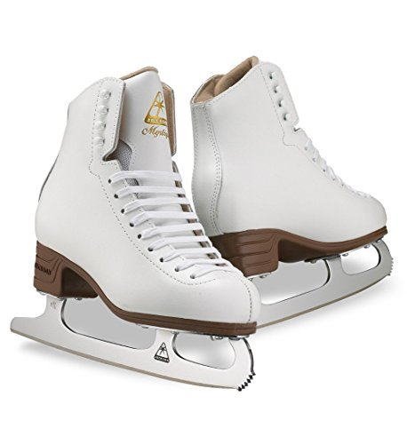 Jackson JS1494 Mystique Tots Ice Skates White Beginner Level Figure Skating (C, 10) by Jackson Ultima
