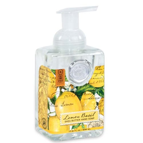 (Michel Design Works Foaming Hand Soap, 17.80-Fluid Ounce, Lemon Basil )