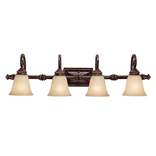 Capital Lighting 1524CB-287 Vanity with Mist Scavo Glass Shades, Chesterfield Brown - Glass Mist Scavo