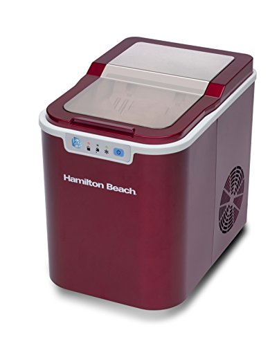 Hamilton Beach PIM-2-1A Portable Ice Maker, Candy Apple Red