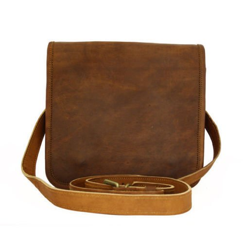 16f05514d4a3 Image Unavailable. Image not available for. Color  Leather Saddler Full Flap  11 quot  Leather Messenger Bag vintange satchel bag for Men and Women