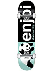 """enjoi Half and Half 8.0 First Push Complete Skateboard Width: 8.0"""" Color: Black / Light Green Features: First Push Complete: Specifically designed for smaller, younger skaters with easy turning and maximum performance. · 7 Ply Hardrock Maple ..."""