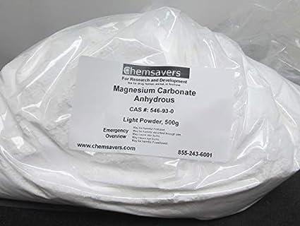 Amazon.com: Carbonato de magnesio anhidro, polvo ligero ...
