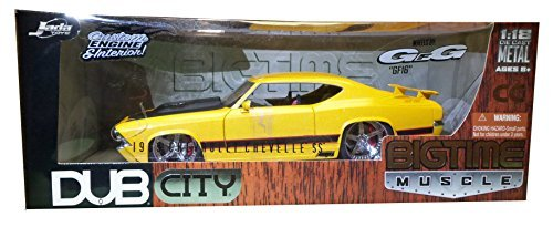 1969 Chevy Chevelle SS DUB 1:18 Diecast Model Car YELLOW by Dub City