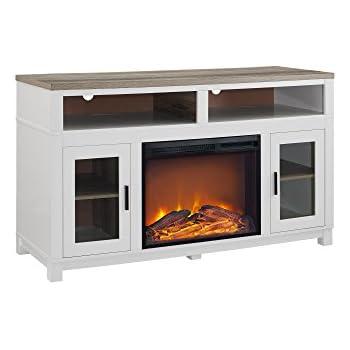 Amazon Com We Furniture 58 Quot Wood Highboy Fireplace Media
