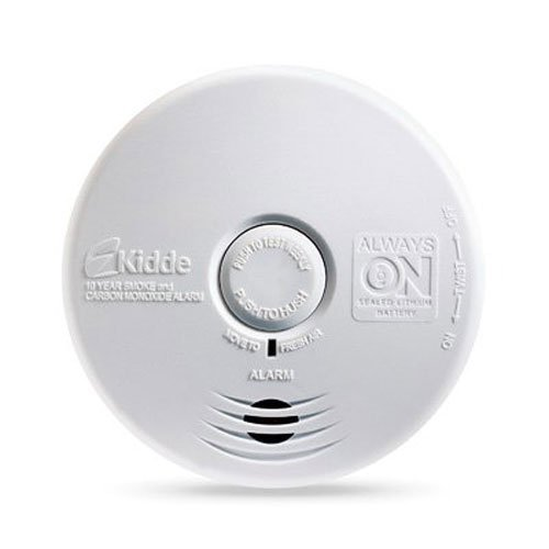 Kidde P3010K-CO Worry-Free Kitchen Photoelectric Smoke and Carbon Monoxide Alarm with 10 Year Sealed Battery Pack of 2