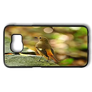Samsung Galaxy S6 Case, Bird S Forest Female Daurian Redstart Rugged Case Cover Protector for Samsung Galaxy S6...
