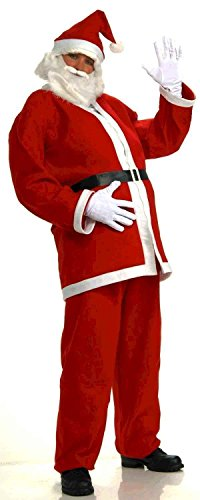 Forum Novelties Simply Santa Costume, White/Red, One Size