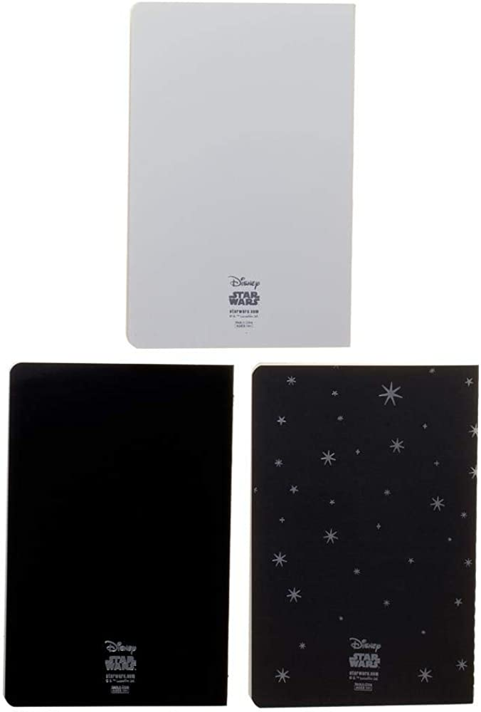 ST Star Wars Leia 3 Pack Soft Cover Journal Set