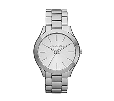Michael Kors Stainless Steel Shiny Silvertone Finish Watch