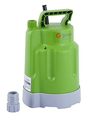 Green Expert 203618 Portable Submersible Utility Water Pump 1/4 HP Water Drain Pump with 1585 GPH for Clean Water
