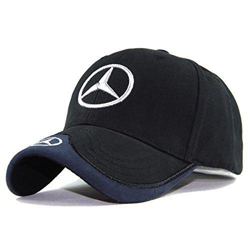 Jhaze Car Logo Black Baseball Cap F1 Racing Hat for Mercedes Benz - -