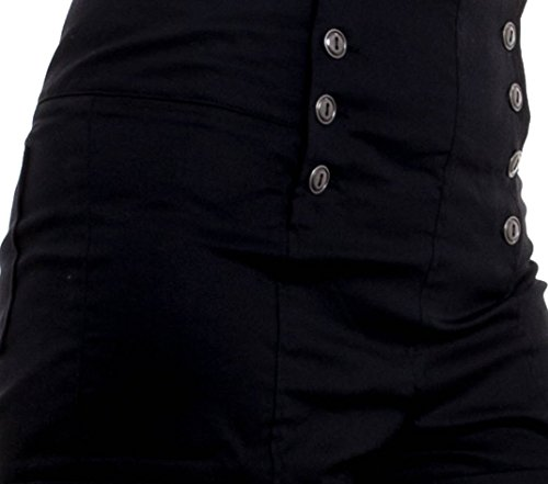 UBTREND Women's Trendy High Waist Button Down Shorts Large black