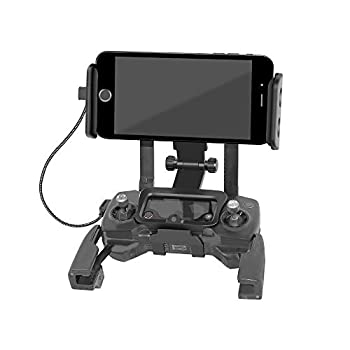 Anbee Foldable Smart Phone Stent / Tablet Holder – Over Display Mount for DJI Mavic 2 Zoom / Pro Drone Remote Controller, Free Neck Strap
