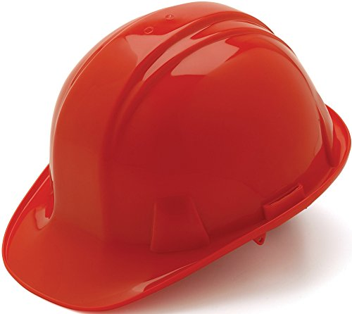 Pyramex Red Cap Style 6 Point Ratchet Suspension Hard Hat by Pyramex Safety