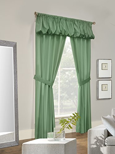 Thermalogic Prescot Insulated Pinch Pleat Drapes, Pin Hooks Included, 96 Inches by 84 Inches, Sage (Inch Pleat Drapes Pinch 96)