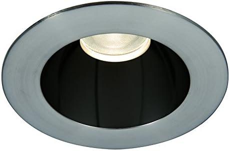 WAC Lighting HR3LEDT318PF840BBN Tesla PRO 3.5 LED Round 0-30 Degree Adjustable Trim with Light Engine 4000K Flood Beam 80+ CRI Specular Black//Brushed Nickel