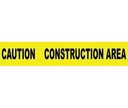TAPE, BARRICADE, CAUTION CONSTRUCTION AREA, 3X1000FT 2 MIL (3 (Caution Construction Area Barricade Tape)
