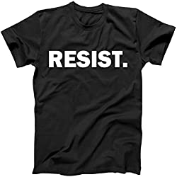 Resist. Anti Trump Resistance T-Shirt (XL, Black)