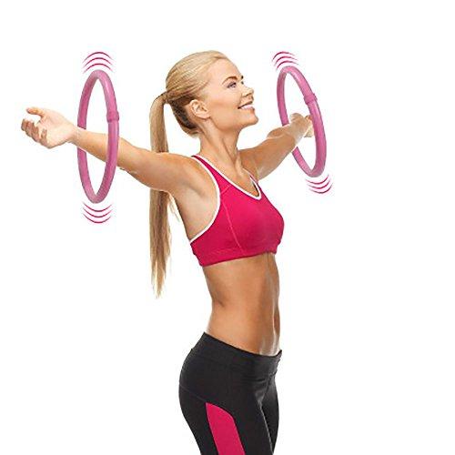 암 훌라 hoop 지방 연소 밸런스 얇은 팔의 허벅지의 각어른13인치,Pink 팔 훌라후프