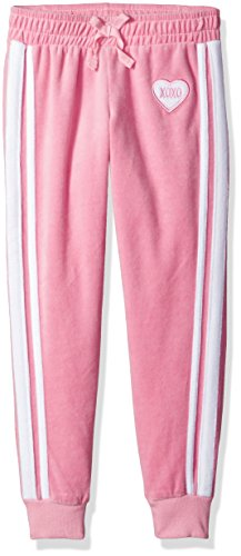 XOXO Big Girls' Velour Pant, Candy Pink, 7/8 (Girls Velour Pants)