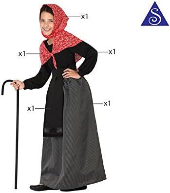 Atosa 26917 - Viejo señora, muchacha, tamaño 104, negro/rojo ...