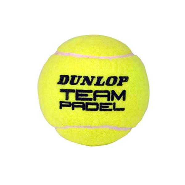 DUNLOP TB Team Padel - Palline per adulti, unisex, colore: giallo, 3 pezzi 2 spesavip