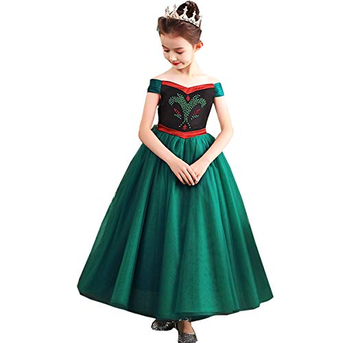 TYHTYM Anna Elsa Princess Costume Little Girls Dress Up Frozen Snow Queen Halloween Party -