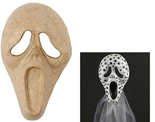 Screaming Style Halloween Paper Mache Mask to Decorate   Papier Mache Shapes