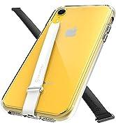 (2PCS) Sinjimoru Clear iPhone XR Case with Silicone Phone Strap, Phone Case iPhone XR with 2PCS P...