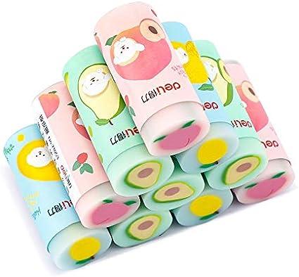 BETOY 12 pcs kawaii borradores fruta de lápiz borradores de goma de estilo de lapiz lindos cute fruit eraser gelatina suave para niños estudiantes: Amazon.es: Oficina y papelería