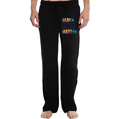 ZOENA Cute Black Lives Matter Pants For Men Black Size XXL ()