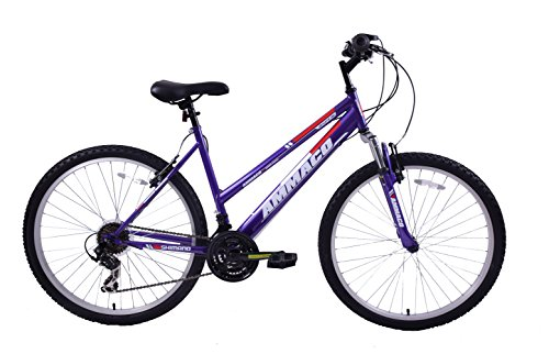 AMMACO ASPEN WOMENS 20' FRAME 21 SPEED FRONT SUSPENSION 26' WHEEL MOUNTAIN...