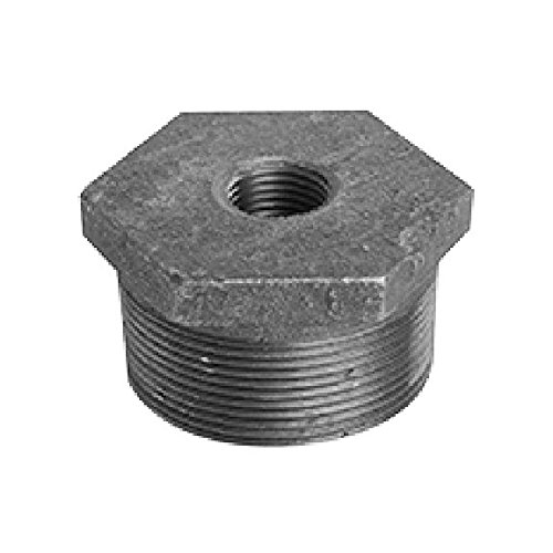 Ward 3 x 1/2 Black Malleable Hex Bushing - 3XD.BB - Galvanized Fittings Made In the USA black fittings, black pipe, pipe, fittings, ward, ward fittings, schedule 40