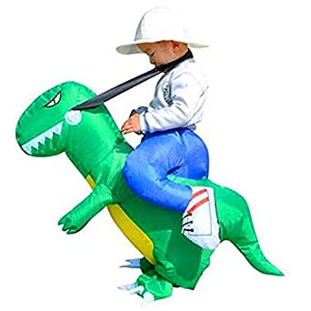 BlueSpace Inflatable Costumes Hallowenn Cosplay Costumes Gaint Dinasour Suit for Audlts and Kids,S