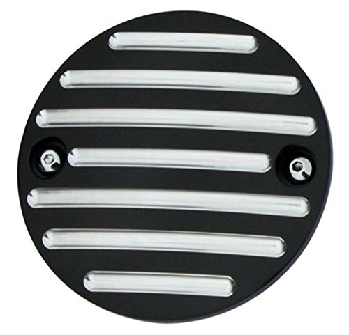 Billet Point Cover (Pro-One 202110B Harley 84-99 & 04-10 XL Ball Milled Black Billet Point Cover)