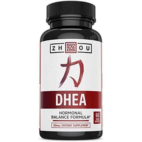 Naturally 60 Vegetable Capsules (DHEA 50 mg Supplement - Hormonal Balance Formula For Women & Men - Healthy Aging Support - Non-GMO Vegetarian Formula - 60 Veggie Capsules)
