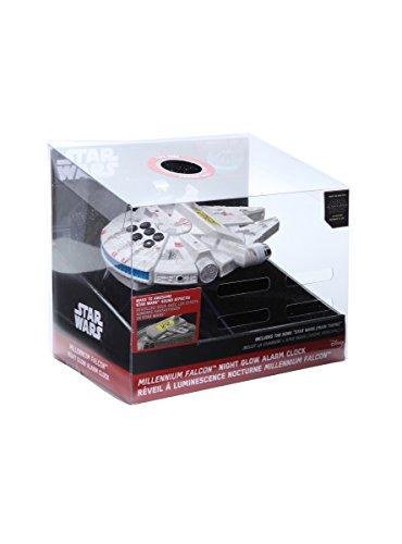 092298924809 - Star Wars-The Force Awakens Millennium Falcon Night Glow Alarm Clock carousel main 0