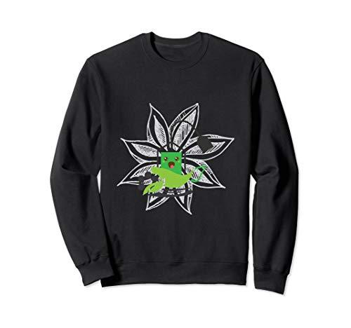 (Herbal Green Tea Bag In Front Of Flower Sharing Sweatshirt)