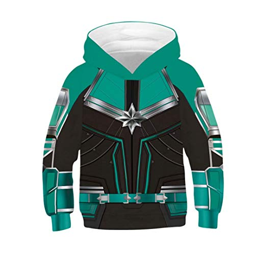 Tsyllyp Carol's Captain Hoodie Girls Boys Super Hero Costume 3D Cool Sweatshirt -