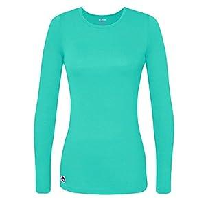 Sivvan Women's Comfort Long Sleeve T-Shirt / Underscrub Tee - S8500 - Sea Glass - S